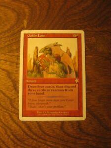 1x Goblin Lore, MP, Starter 1999, Modern Hollow One BRG Random Discard Sorcery