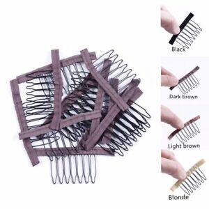 wig clip / wig comb secure U part wig 7 tooth black & brown / blonde UK seller