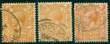 Great Britain Sg-366, Scott # 162 Used, Fine-Very Fine, 3 Stamps, Great Price!