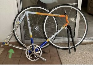 Colnago FRAME Master X-Light Steel 59 cm Orange Road Bike WHEELS Chainring