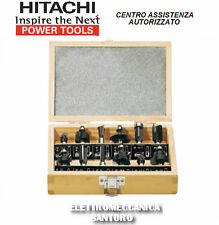 SET 12 PIEZAS FRESAS MADERA HITACHI PARA FRESADORAS CON VÁSTAGO DE 8 mm
