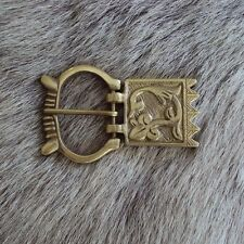 Viking Pattern Brass Belt Buckle - Ideal For LARP / Re-Enactment