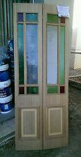Bifold door timber federation coloured glass suit 770 door 2000 x 760 x 20 mm