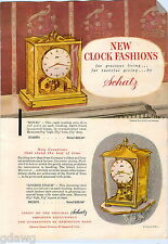 1956 ADVERTISEMENT Clock Schatz Royal London Coach Cathedral Cuckoo Levelator