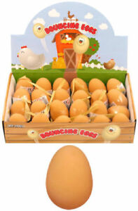 6 X Fake Eggs Rubber Eggs Bouncy Rubber Eggs Joke Eggs Prank Eggs Dummy Eggs