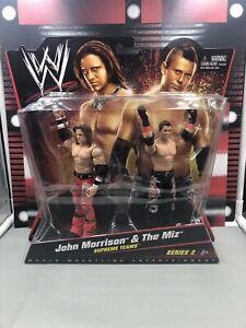 JOHN MORRISON & THE MIZ SERIES 2 MATTEL WWE FIGURE WRESTLING