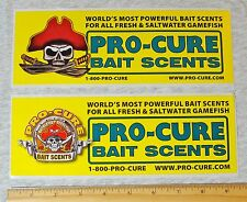 New listing Lot of 2 Pro-Cure Fishing Pirate Sticker Decal Fisherman Fish Bait Scents Oregon