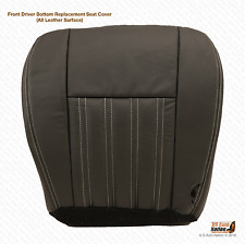 2004 Ford F250 F350 Harley-Davidson Front Driver Bottom Black Leather Seat Cover