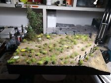 1/35 WW2 Diorama Base. Scratch Built And Painted. Size A4