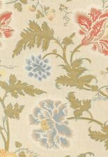Schumacher Luxury Floral Upholstery Fabric- Lampasso Flori/Berry (62192) 1.70 yd