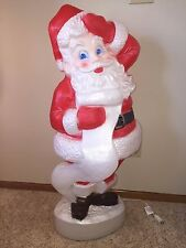 "Vintage 43"" Union Christmas Santa With List Lighted Blow Mold Yard Decoration #2"