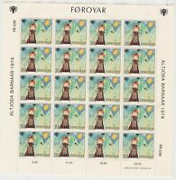 Faroe Islands Mint Never Hinged Stamps Sheet ref R17365