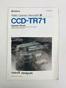 1992 SONY CCD-TR71 Video Camera Recorder 8 Operating Instructions Manual Guide