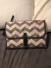 Skip*Hop Pronto diaper changing station clutch grey chevron