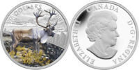 "2014 ROYAL CANADIAN MINT ""THE CARIBOU"" $20 FINE SILVER COIN"