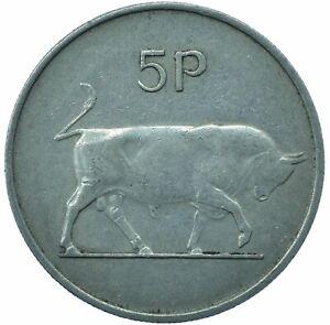 1970 IRELAND / EIRE 5P COIN BULL GOOD GRADE BEAUTIFUL COLLECTIBLE  #WT29843
