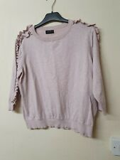 Pink 3/4 sleeved jumper by papaya size 20 but more like a size 16