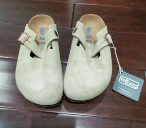Brand new w box Birkenstock Boston Soft Footbed Taupe Size 36(us size 5) $145