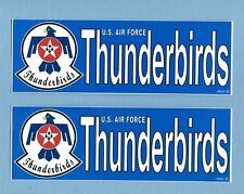DECAL STICKER Set USAF THUNDERBIRDS DEMONSTRATION TEAM Squadron Patch Image
