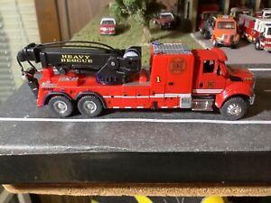 Custom Built 1/87 Scale International 7500 Heavy Rescue Fire Department Wrecker