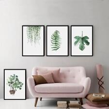 Verde Plantas LONA arte ilustración cartel Hoja Lona Pintura Pared Fotos DC