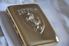 Cigarette Case Metal 24K Gold Plated Ferrari 488 California Super Car Logo Gift