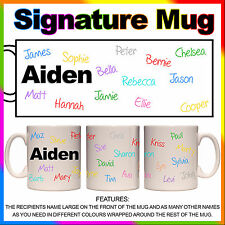Personalised Signature Mug - Birthday, Retirement, Farewell Gift Idea, Any Names
