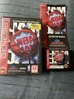NBA Jam SEGA Genesis Video Game Complete CIB, Tested