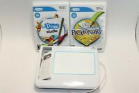 WII UDRAW GAME WHITE TABLET WITH WII U DRAW STUDIO GAME + UDRAW PICTIONARY GAME