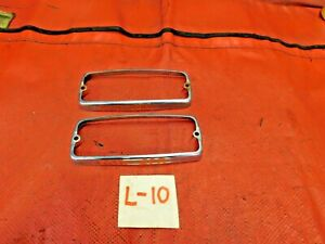 MG Midget, Sprite, Lucas Parking Light Chrome Trim Rings, Original, !!