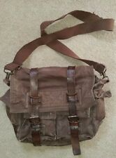 Timberland Canvas/Leather Messenger Bag, Brown, Distressed