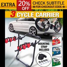 Bullet Car Bike Rack Carrier 3 Rear Mount Bicycle Steel Foldable Strap-on