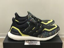 New Adidas Ultra Boost Running Shoes Multicolor Yellow Blue EG8106 Mens Size