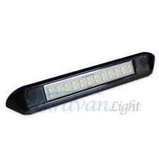 12V LED Awning Light 250mm Black Shell Cool White Caravan Van Tube RV Waterproof