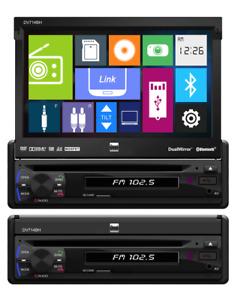 Dual DV714BH Single DIN DVD/MP3/USB Receiver w/Built-in Bluetooth & Dual Mirror