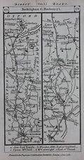 Original antique map OXFORDSHIRE, BANBURY, WARWICKSHIRE, STRATFORD Paterson 1785