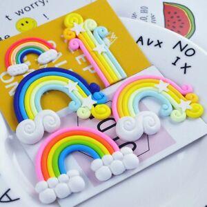 Fancy Rainbow Cloud Cake Topper Birthday Wedding Cupcake Decoration Party Supply