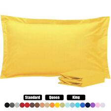 1800 Pillow Shams Standard Queen King Ultra Soft Pillowcase Set of 2 Pillowcases