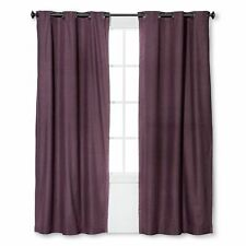 New One Eclipse Windsor Plum Black Out Window Curtain Panel 42x84 Grommet