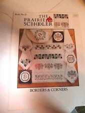 Vtg The Prairie Schooler cross stitch chart Borders & Corners Book 22