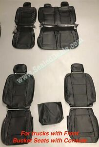 Ford F150 XLT SuperCrew Leather Seat Covers LIMITED Style Black 2015 -> 2020