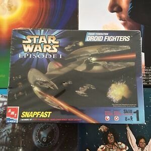 Ertl 1999 New Sealed Star Wars Episode 1 Snapfast Model Kit Doid Fighters