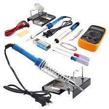 110V 40W Electric Soldering Iron Welding Kit with Multimeter Desolder Pump 10PCS