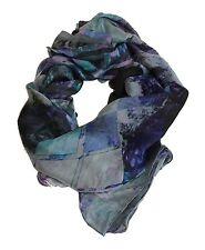 Designer Scarf Long ✦ 100% Silk Chiffon ✦ Geneva Night by Coco & Sebastian