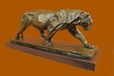 Bugatti African Lioness Wildlife Animal Bronze Statue Marble Figure Figurine Nr