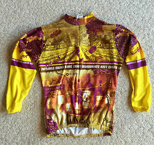 Cycling Jersey Bike Top Kucharik Clothing Wine Long Sleeve Men's Medium Chest 38