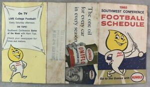 1960 Southwest Conference Football Schedule SWC Humble Oil Texas A&M UT TCU +++