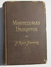 MONTEZUMA'S DAUGHTER H RIDER HAGGARD 1ST ED 1893 LONGMANS GREEN & CO 24 AD PAGES