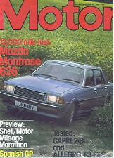 MOTOR Magazine - June 27 1981 - Road Test: Capri 2.8i, Allegro 1.3 HLS