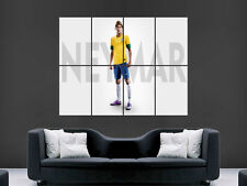NEYMAR Brasile Calcio in Coppa del Mondo Grande Foto Poster Gigante